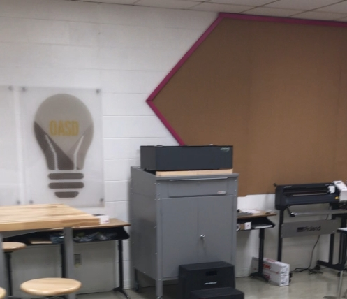 OASD Maker Space Back Wall